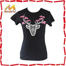 High quality printed popular trustworthy women t-shirt 2014 casual comfortable women t-shirt