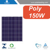 CEC listed 150w poly solar panel connect to pure sine wave power inverter for solar on grid system for home use