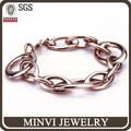 confeccionar moda ouro rosa pulseira jóias