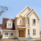 G550 ZA150 light steel prefabricated villa house