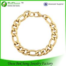 cheap summer holiday stainless steel rhodium chain bracelet