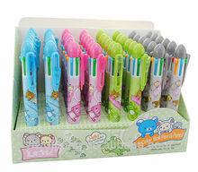 Hot design plastic 6 color ballpoint pen