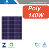 MCS approved 140w solar panel polycrystalline with production line solar cell for home solar power system grid tied