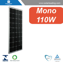 Good quality 110w solar panel price per watt connect to 3 phase grid tie inverter for home on grid solar system
