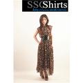 sscshirts design confortável e macio baratos da dama de honra vestido