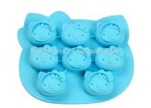 100% Food-grade Hello Kitty animal shaped soap mold