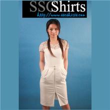 sscshirtsการออกแบบที่สะดวกสบายและอ่อนนุ่มราคาถูกแขนยาวชุดแมกซี่
