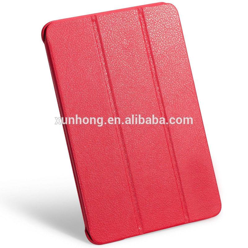J1189 Leatherette Case Cover for iPad mini retina very slim case red