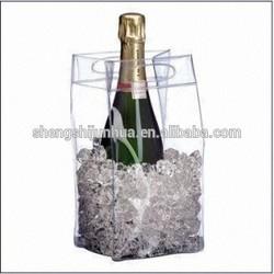 pvc clear wine cooler plastic bag