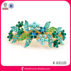 2014 Wholesale fancy color painted pearl rhinestone butterfly hair clip flower wedding hair accessories