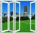di alluminio economico balcone esterno di vetro esterno porta a soffietto