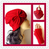 Lady Elegant Design And Fashion Scarf Gloves Hat