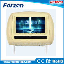 High quality 7 inch car headrest high resolution unique car dvd vcd cd mp3 mp4 player with FM factory low price