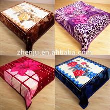 100%polyester raschel blanket/mink blanket/fleece blanket