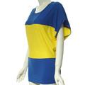 ladys blusa corta para el tamaño más prendas de vestir de las mujeres