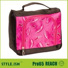 Satin Toiletry Women travel bag ,Hanging cosmetic bag girls makeup cases