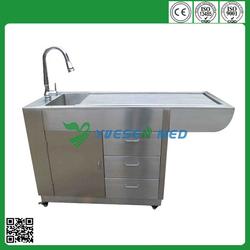 YSVET0508 hot stainless steel dog grooming bathtub