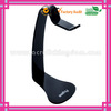 creative design fashion black custom acrylic headphone stand manufacturer