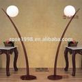 projeto elegante arco de madeira lâmpada de assoalho