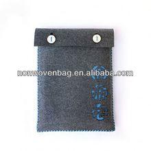 sleeve felt bag 2014 korean style wool felt genuine leather hand