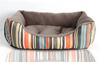 Strip rainbow short plush dog cat puppy pet bed kennel