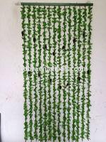 Fake Grape Decorative Plastic Flower Bamboo Curtain