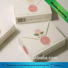 New design printed custom made paper soap box/ handmade soap packaging