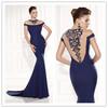 Top Quality Back Covered Crystal Royal Blue Tarik Ediz 92465 Dress 2015 Ladies Long Evening Party Wear Gown Mermaid Party Dress