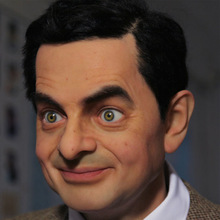 custom silicone sculpture of The comedian Mr.bean wax figure