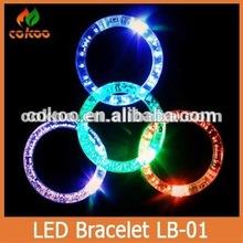 wholesale! 100pcs/lot,led bracelet,fashion flash bracelet party supply,fiber arm wristband,6 colors available