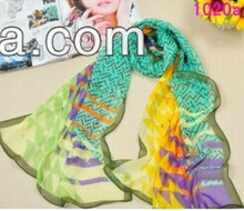 2013 national pot printed voile scarf