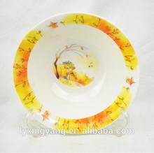 High Quality porcelian kid Bowl/Custom Printed Round Shape Ceramic Baby Bowl