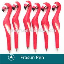 Animal Shape Carved Wood Pen/Craft Gift Souvenir Pen/Flamingo Pen