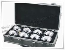 8 unids bola de acero bola de aleación de petanca bola petanca petanca con el caso