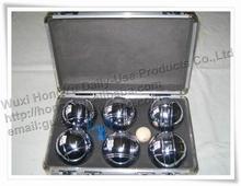 6 unids bola de acero bola de aleación de petanca bola petanca petanca con el caso