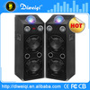 Durable 2.0 professional stage powered speakers with disco light