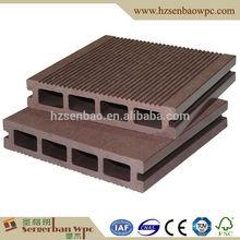 Cheap hollow dark coffee color plastic composite WPC board
