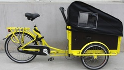 2014 New design Adult tricycle with shimano 3 speed/ Cargo tricycle with cabin/ Cargo bike SW-T-M09