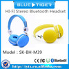 HI-FI Stereo bluetooth headset SK-BH-M39 ,V4.0 Crystal clear sound headset