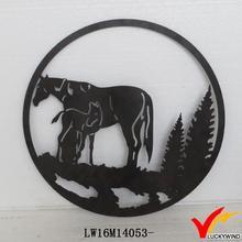 best selling recycle metal vintage painted craft animals