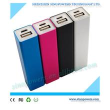 Cheapest price 2600mAh aluminium alloy square mini power bank for iPhone, Samsung mobile phones