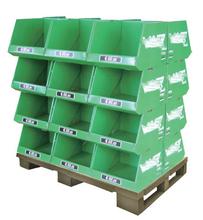 china supplier cardboard box display rack / flooring cardboard display stand / cardboard fur