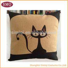 New style 2014 popular 100% short soft velvet printing cushion