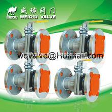 Stainless Steel Ball Valve 2pc DIN flange ball valve DN40 PN25