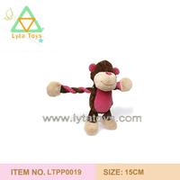 lovely plush monkey pet toy for cat
