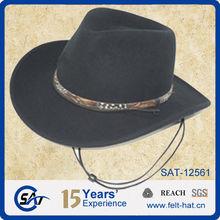 fashion mens black fedora wool felt hat ,cowboy hat, jazz hats