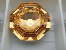 light topaz octagon crystal chaton lab created gemstone