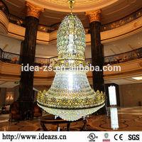Crystal flat chandelier light,iron wire pendant lamp,unique crystal gun chandelier