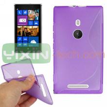 New TPU Gel Case For Nokia 925, Purple TPU Case For Nokia Lumia 925