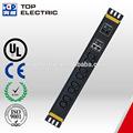 Horizontale rack 8 c13 10 un moyen, 1 paire. rj45& rj11 ethernet. prises contre les surtensions, rj45 ethernet. iec c13 électrique. power board